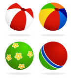 Set  of beach balls Royalty Free Stock Image