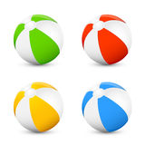 Set of beach balls Royalty Free Stock Images