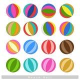 Set of Beach Balls on White Background Stock Image