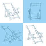 Set of beach chairs Royalty Free Stock Photos
