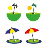 Golf9. A set of beach golf icons Royalty Free Stock Photography