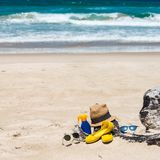 Set for a beach stock photography