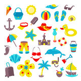 Set of beach icons. Royalty Free Stock Photography