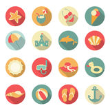 Set of beach icons. Stock Image