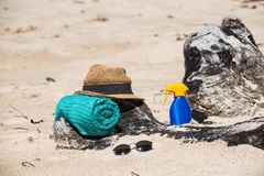 Set for a beach royalty free stock image