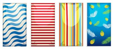 A set of beach towel. Illustration royalty free illustration