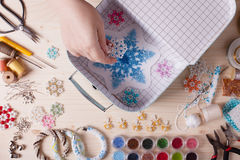 Set for beading Royalty Free Stock Images