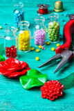 Set of beads for decorations Stock Images