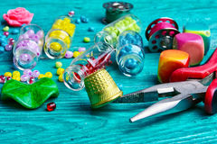 Set of beads for decorations Stock Photo