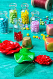 Set of beads for decorations Royalty Free Stock Photography