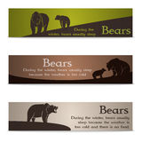 Set of bear banners Royalty Free Stock Photo