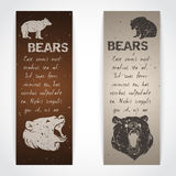 Set of bear banners Royalty Free Stock Photography