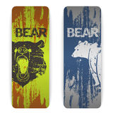 Set of bear banners Stock Photo
