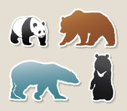 Set of bear banners Royalty Free Stock Photos