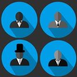 Set of bearded hipster men faces. H stock illustration
