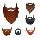 Set of Beards Royalty Free Stock Photos