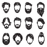 Set of beards and hairs Stock Images