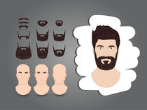 Set of beards. And mustaches Stock Image