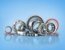 Set bearing on a blue background. Royalty Free Stock Image