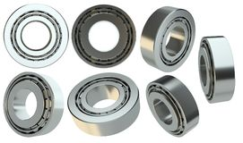 Set of bearings, isolated on white. Background. 3d illustration Royalty Free Stock Photos