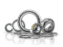 A set of bearings on a white background. Stock Image