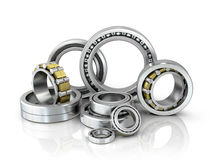 A set of bearings on a white background. Stock Photography