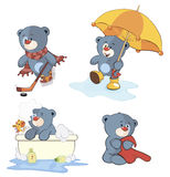 A set of bears cartoon Royalty Free Stock Photography