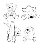 A set of bears. Coloring book Royalty Free Stock Photography
