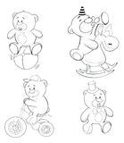 A set of bears. Coloring book Royalty Free Stock Image