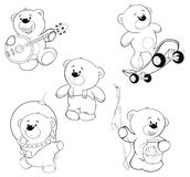 Set of bears Coloring book Royalty Free Stock Photo