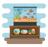 Set beautiful aquariums icons. Vector illustration design Stock Photo