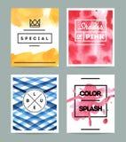 Set of beautiful artistic cards Stock Photo