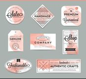 Set of beautiful artistic labels Stock Image