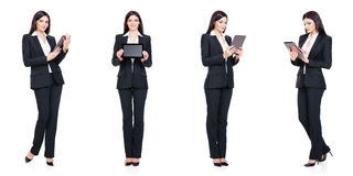 Set of beautiful, attractive businesswoman isolated on white. Business, career success concept. Set of beautiful, attractive businesswoman isolated on white Stock Images