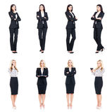Set of beautiful, attractive businesswoman isolated on white. Business, career success concept Stock Image
