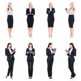 Set of beautiful, attractive businesswoman isolated on white. Business, career success concept Royalty Free Stock Images
