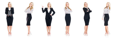 Set of beautiful, attractive businesswoman isolated on white. Business, career success concept. Stock Images