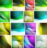 Set of beautiful blurred abstract backgrounds Stock Photo