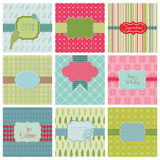 Set of Beautiful Cards Stock Photo