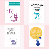 set of beautiful cards  Royalty Free Stock Images