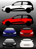 Set of beautiful cars Royalty Free Stock Photo