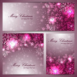 Set of beautiful christmas banners with snowflakes Stock Photography