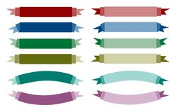 A Set of Beautiful Colorful Empty Banners Royalty Free Stock Photo