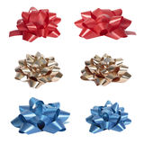 Set of  beautiful colourful bows Royalty Free Stock Image