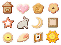 Set of beautiful cookies vector illustration