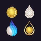 Set of Beautiful Cosmetics Logos Stock Image