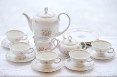 Set of beautiful crockery Royalty Free Stock Images