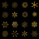 Set of beautiful different snowflakes isolated on white -  Stock Photo