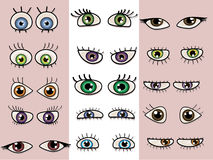 A set of beautiful eyes. Stock Image