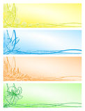 Set beautiful floral banners Stock Image